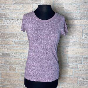 Mossimo Light Purple T-Shirt Stretchy Soft Petite